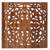 Wood relief panel, 'Bali Flower Spirit' - Hand Carved Floral Wood Wall Art Relief Panel from Bali (image 2d) thumbail