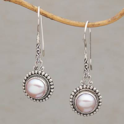 Cultured pearl dangle earrings, Enchanted Radiance