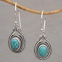 Sterling silver dangle earrings, 'Daydreaming' - Handmade 925 Sterling Silver Earrings Indonesia