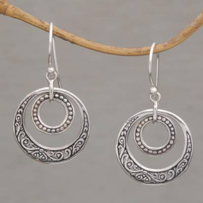 Sterling silver dangle earrings, Dreamy Wanderer