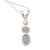 Opal and cultured pearl pendant necklace, 'Sea Symphony' - Handmade Opal Freshwater Cultured Pearl Pendant Necklace (image 2a) thumbail
