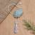 Opal and cultured pearl pendant necklace, 'Sea Symphony' - Handmade Opal Freshwater Cultured Pearl Pendant Necklace (image 2b) thumbail