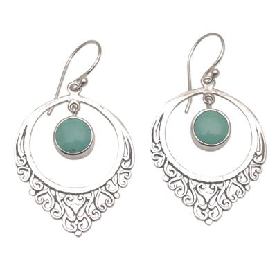 Handmade 925 Sterling Silver Reconstitute Turquoise Earrings