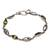 Peridot link bracelet, 'Opulent Nature' - Balinese Peridot and Sterling Silver Link Bracelet (image 2a) thumbail