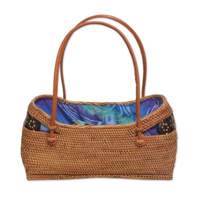 Handmade Balinese Natural Ate Grass Lombok Handle Handbag