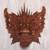 Wood mask, 'Queen Rangda' - Hand Carved Suar Wood Wall Mask from Indonesia thumbail