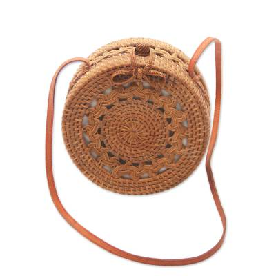 Handcrafted Ate Grass Sling Handbag from Bali