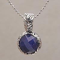 Sapphire pendant necklace,