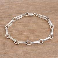 Featured review for Sterling silver link bracelet, Unified