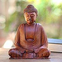 Featured review for Wood statuette, Serenity Buddha