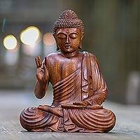 Featured review for Wood statuette, Buddha Peace