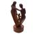 Wood sculpture, 'Our Blessing' - Hand-Carved Parents and Child Blessing Suar Wood Statuette (image 2b) thumbail