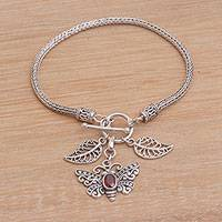 Featured review for Garnet charm bracelet, Butterfly Dawn