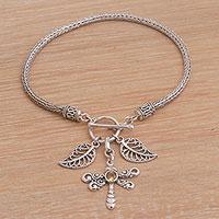 Citrine charm bracelet,