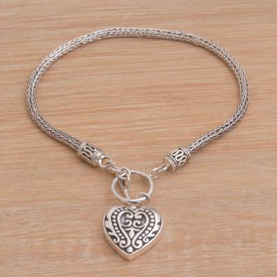 Sterling silver charm bracelet, Love Is Endless