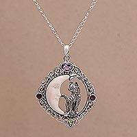 Featured review for Multi-gemstone pendant necklace, Kittys Night