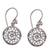 Sterling silver dangle earrings, 'Enchanting Mandalas' - Round Sterling Silver Mandala Flower Earrings from Bali (image 2a) thumbail
