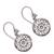 Sterling silver dangle earrings, 'Enchanting Mandalas' - Round Sterling Silver Mandala Flower Earrings from Bali (image 2d) thumbail