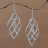 Sterling silver dangle earrings, 'Pesona' - Sterling Silver Dangle Earrings Handcrafted in Bali