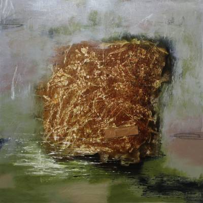 Signed Abstract Painting (2010) from Bali