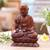 Wood sculpture, 'Praying Buddha' - Handmade Suar Wood Buddha Sculpture Hand Carved in Bali thumbail