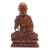 Wood sculpture, 'Praying Buddha' - Handmade Suar Wood Buddha Sculpture Hand Carved in Bali (image 2a) thumbail