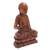 Wood sculpture, 'Praying Buddha' - Handmade Suar Wood Buddha Sculpture Hand Carved in Bali (image 2c) thumbail