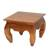 Teakwood end table, 'Kuta Beach' - Handmade Teakwood Wide Top End Table Hand Carved in Bali thumbail
