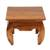 Teakwood end table, 'Kuta Beach' - Handmade Teakwood Wide Top End Table Hand Carved in Bali (image 2a) thumbail