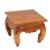 Teakwood end table, 'Kuta Beach' - Handmade Teakwood Wide Top End Table Hand Carved in Bali (image 2b) thumbail