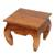 Teakwood end table, 'Kuta Beach' - Handmade Teakwood Wide Top End Table Hand Carved in Bali (image 2c) thumbail