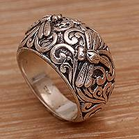 Featured review for Sterling silver domed ring, Vine Palace