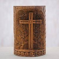 Featured review for Wood statuette, Fern Cross