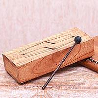 Mahogany xylophone, 'Natural Notes' - Handcrafted Mahogany Xylophone Instrument from Bali