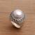 Cultured pearl cocktail ring, 'Temple of Hope' - Cultured Mabe Pearl and Sterling Silver Cocktail Ring thumbail