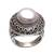 Cultured pearl cocktail ring, 'Temple of Hope' - Cultured Mabe Pearl and Sterling Silver Cocktail Ring (image 2a) thumbail