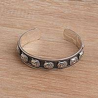 Featured review for Sterling silver cuff bracelet, Buddhas Blessing