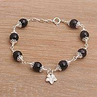 Onyx charm bracelet,