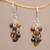 Tiger's eye cluster earrings, 'Natural Shores' - Tiger's Eye and Sterling Silver Cluster Earrings from Bali thumbail