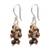 Tiger's eye cluster earrings, 'Natural Shores' - Tiger's Eye and Sterling Silver Cluster Earrings from Bali (image 2a) thumbail