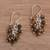 Tiger's eye cluster earrings, 'Natural Shores' - Tiger's Eye and Sterling Silver Cluster Earrings from Bali (image 2b) thumbail
