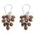 Tiger's eye cluster earrings, 'Natural Shores' - Tiger's Eye and Sterling Silver Cluster Earrings from Bali (image 2c) thumbail