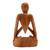 Wood sculpture, 'Natural Meditation' - Wood Lotus Meditation Yoga Sculpture Hand Carved in Bali (image 2d) thumbail