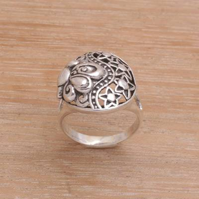 silver ring drawer pulls bronze