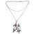 Multi-gemstone pendant necklace, 'Kembang Setaman' - Multi-Gemstone Floral Sterling Silver Pendant Necklace (image 2c) thumbail