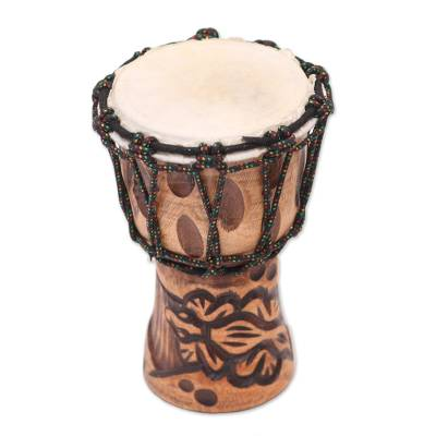 Mahogany Mini Djembe Drum Handmade in Bali