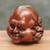 Wood sculpture, 'Four Faces' - Hand-Carved Four Faces of Buddha Suar Wood Statuette thumbail