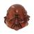 Wood sculpture, 'Four Faces' - Hand-Carved Four Faces of Buddha Suar Wood Statuette (image 2c) thumbail