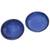 Ceramic condiment dishes, 'Bright Sky' (pair) - Pair of Blue Ceramic Condiment Dishes from Indonesia (image 2a) thumbail