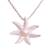 Cultured pearl pendant necklace, 'Galang Starfish in White' - Cultured Pearl Starfish Necklace in White from Bali (image 2a) thumbail
